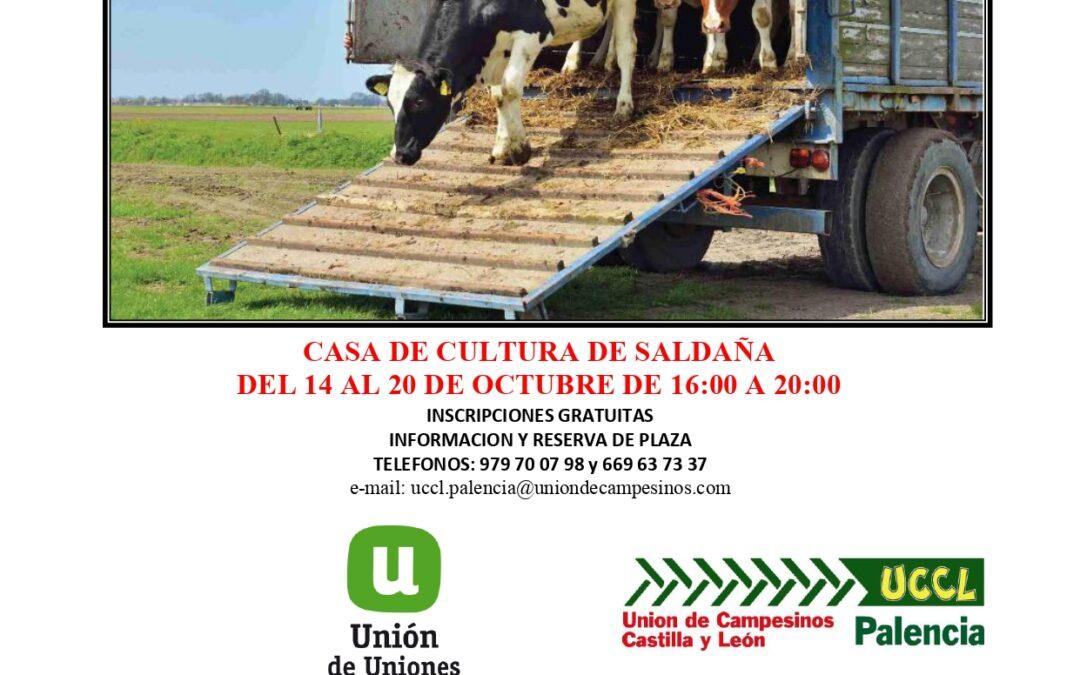 Curso «Bienestar animal en el transporte» Saldaña. Palencia. 14 al 20 octubre 2020