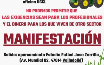 UCCL convoca una manifestación el 27 de agosto en Valladolid para exigir una PAC para los ATPs