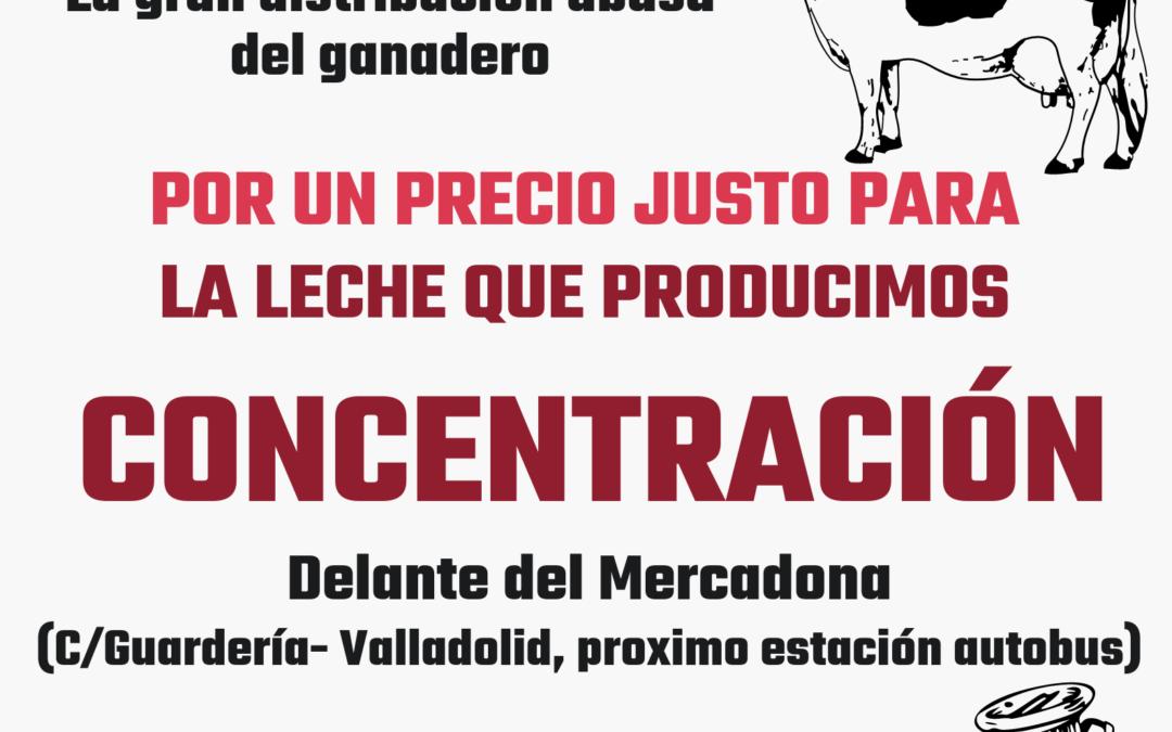 UCCL se moviliza el 6 de agosto frente al Mercadona para evitar más cierres de granjas de vacuno de leche y para denunciar el abuso de la distribución