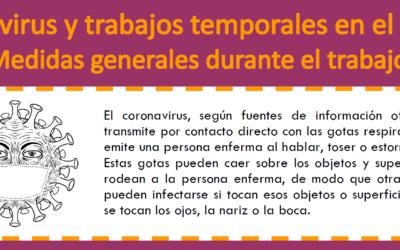 Formas de prevenir el coronavirus durante el trabajo temporal en el campo.
